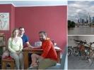 Wir hatten einen schönen Abend mit tollem Essen und auch unsere Fahrräder freuten sich über das wieder sehen (-;