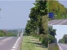 Endlose Straßen mit Gegenwind auf dem Weg nach Reims